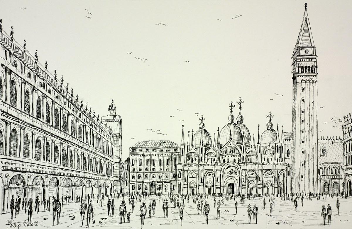 St Marks Square Venice (sketch)